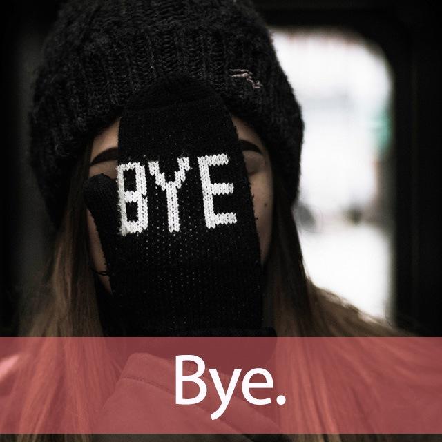 「バイバイ」を知ってれば…ゼッタイ話せる英会話→ Bye.