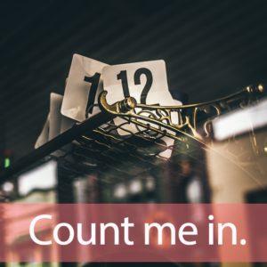 「カウント」を知ってれば…ゼッタイ話せる英会話→ Count me in.