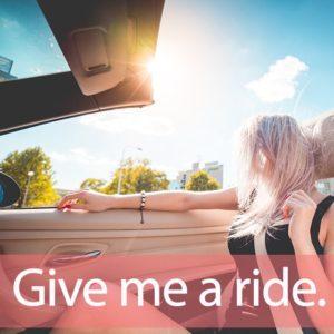 「ライダースジャケット」を知ってれば…ゼッタイ話せる英会話→  Give me a ride.
