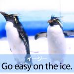 「イージー」から学ぶ→ Go easy on the ice.