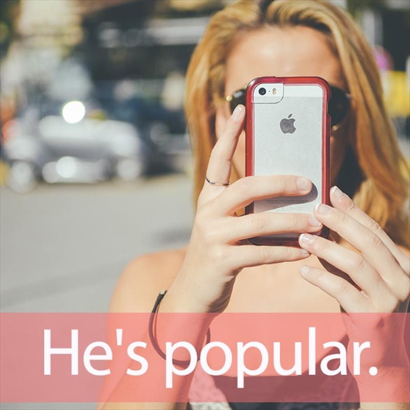 「ポピュラー」を知ってれば…ゼッタイ話せる英会話→ He's popular.
