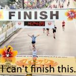 「フィニッシュ」から学ぶ→ I can't finish this.