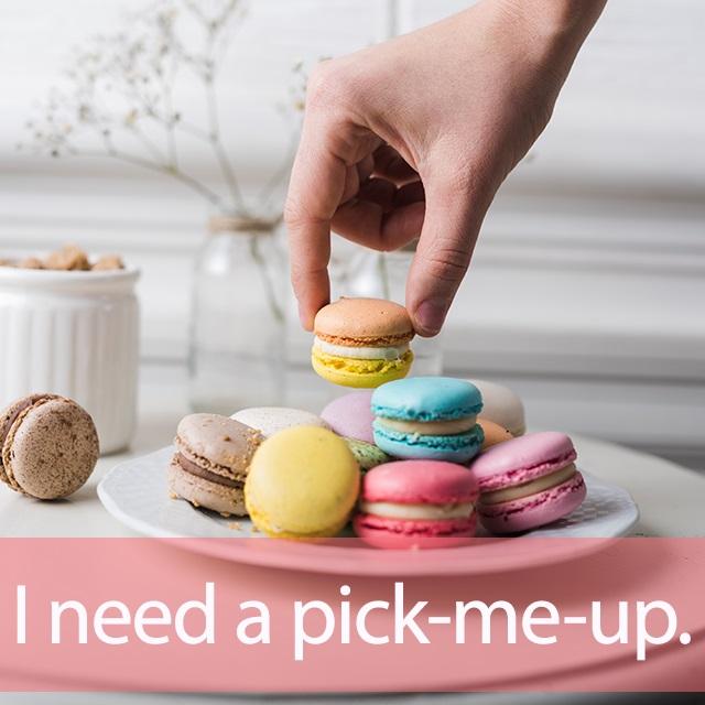 「ピックアップ」を知ってれば…ゼッタイ話せる英会話→ I need a pick-me-up.