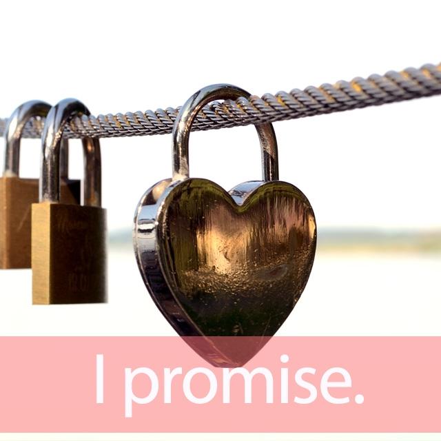 「プロミス」を知ってれば…ゼッタイ話せる英会話→ I promise.