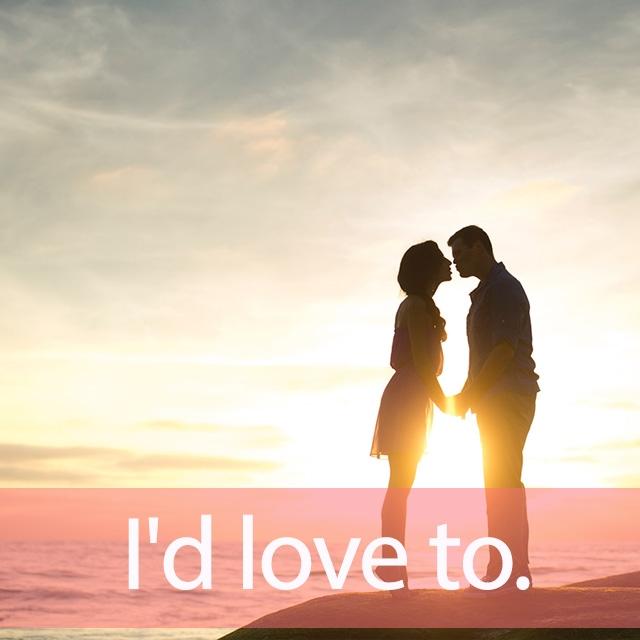 「ラブ」を知ってれば…ゼッタイ話せる英会話→ I'd love to.