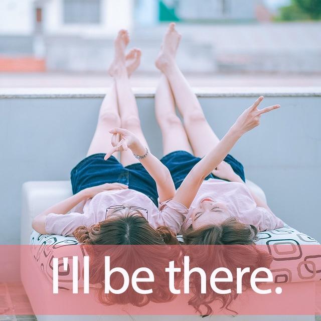 嵐「I'll be there」を知ってれば…ゼッタイ話せる英会話→ I'll be there.