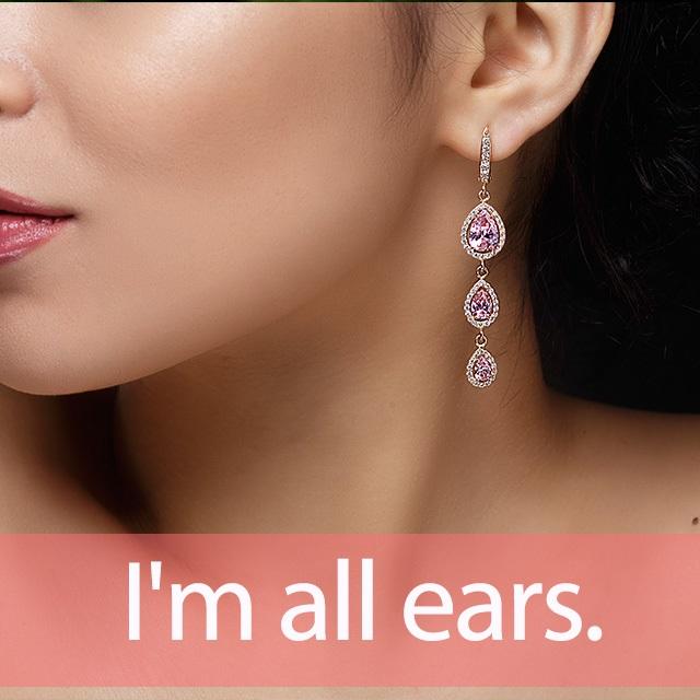 「イヤリング」から学ぶ→I'm all ears.