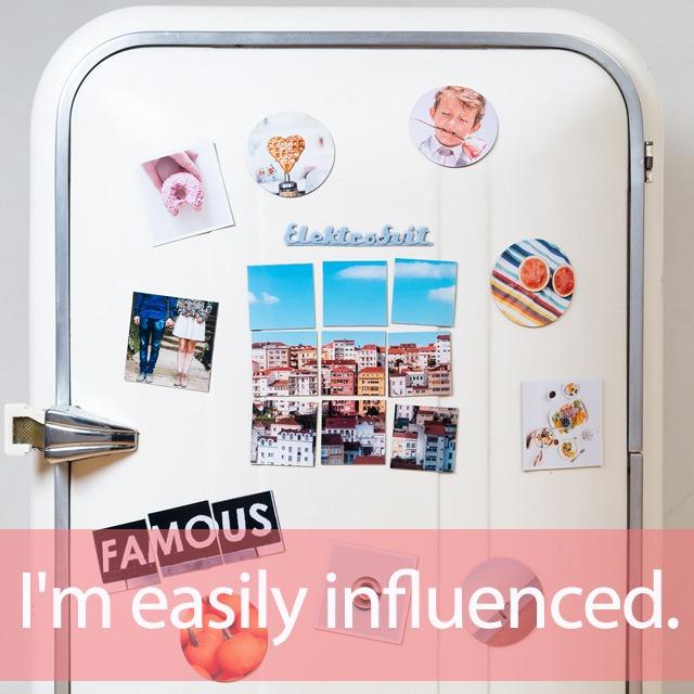 「インフルエンサー」を知ってれば…ゼッタイ話せる英会話→  I'm easily influenced.