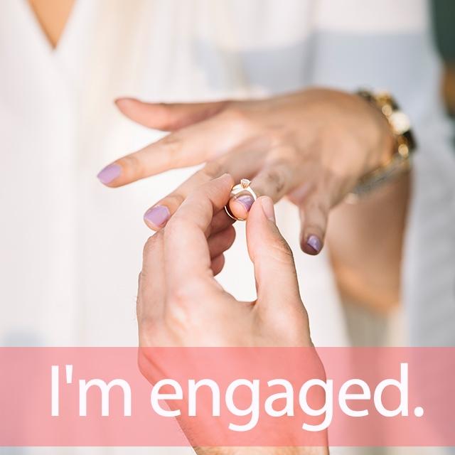 「エンゲージ」を知ってれば…ゼッタイ話せる英会話→ I'm engaged.