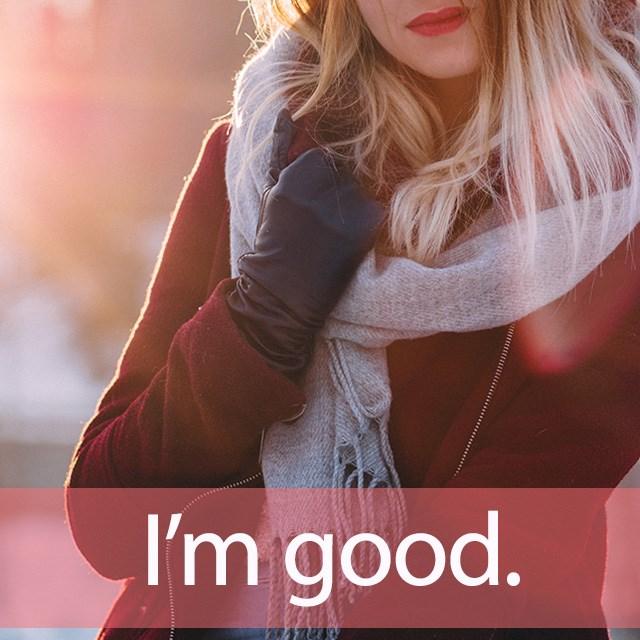 「グッドガール」を知ってれば…ゼッタイ話せる英会話→  I'm good.