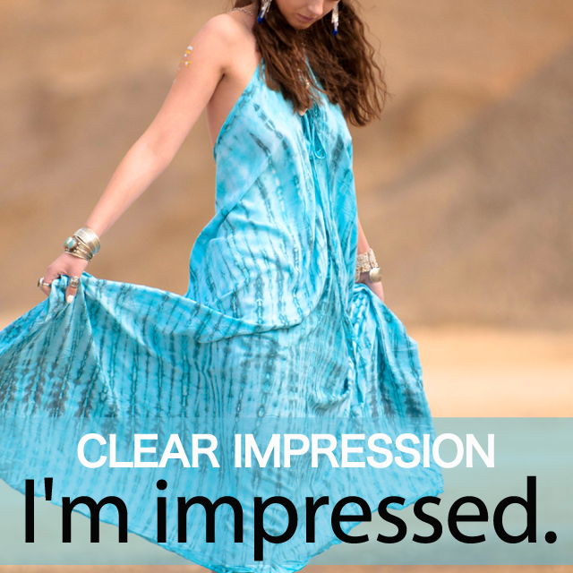 「CLEAR IMPRESSION」から学ぶ→ I'm impressed.