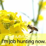 「ぷ―さんのハニーハント」から学ぶ→ I'm job hunting now.