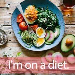 「ダイエット」を知ってれば…ゼッタイ話せる英会話→ I'm on a diet.