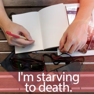 「デスノート」を知ってれば…ゼッタイ話せる英会話→ I'm starving to death.