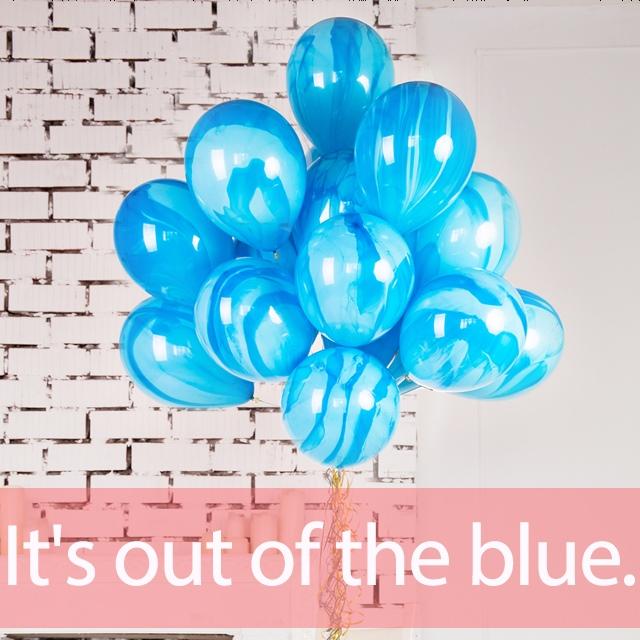 「ブルー」を知ってれば…ゼッタイ話せる英会話→ It's out of the blue.