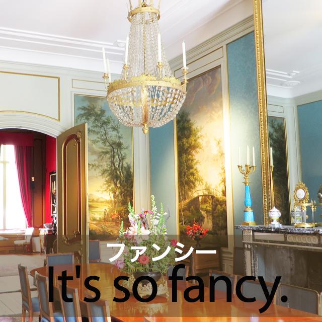 「ファンシー」から学ぶ→ It's so fancy.