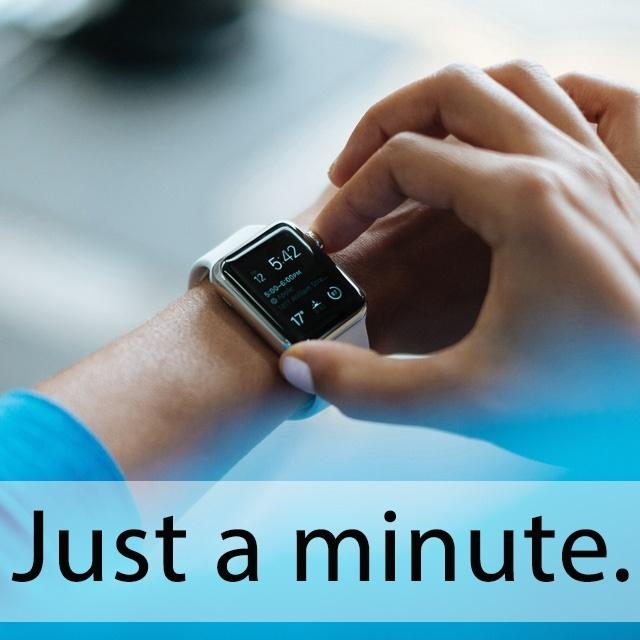 「ミニット(ツ)」を知ってれば…ゼッタイ話せる英会話 Just a minute.