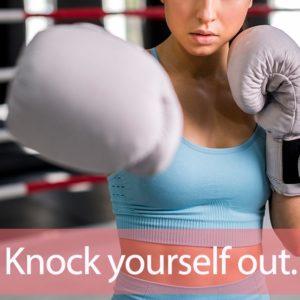 「ノックアウト」を知ってれば…ゼッタイ話せる英会話→ Knock yourself out.