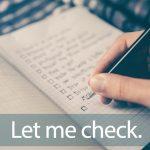 「チェック柄」から学ぶ→Let me check.