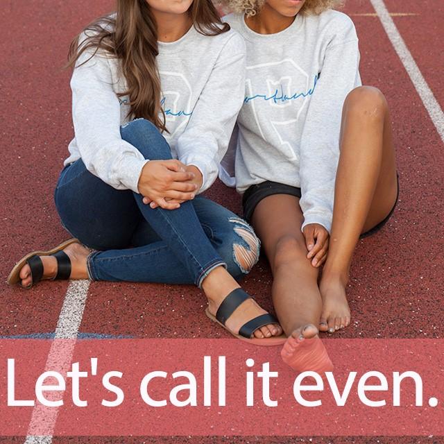 「イーブン」を知ってれば…ゼッタイ話せる英会話→  Let's call it even.
