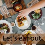 「EATME」から学ぶ→ Let's eat out.