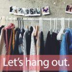 「ハンガー」から学ぶ→Let's hang out.