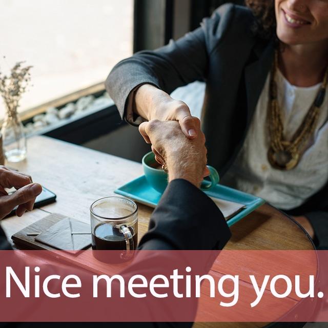 「ミーティング」を知ってれば…ゼッタイ話せる英会話→ Nice meeting you.