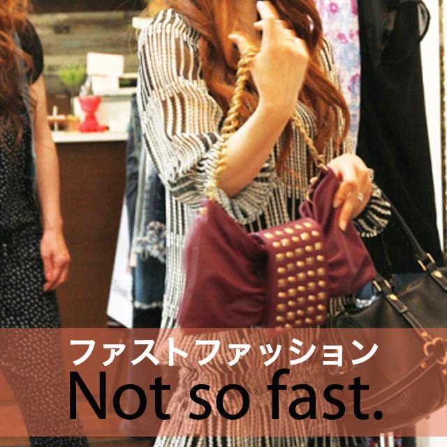 「ファストファッション」から学ぶ→ Not so fast.