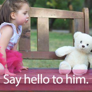 「ハロー」を知ってれば…ゼッタイ話せる英会話→ Say hello to him.