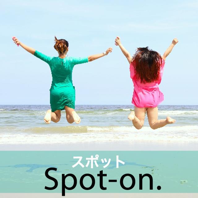 「スポット」から学ぶ→ Spot-on.