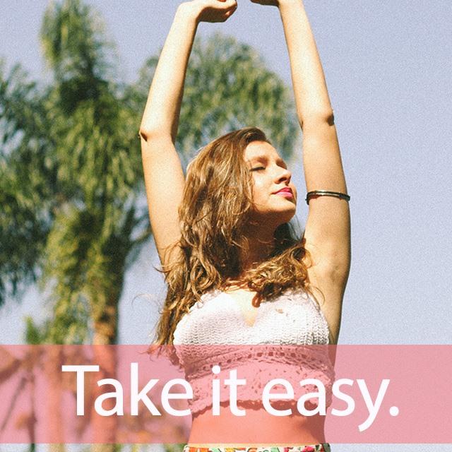 「イージー」を知ってれば…ゼッタイ話せる英会話→ Take it easy.