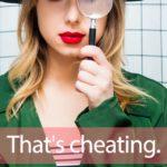 「チートデー」から学ぶ→ That's cheating.