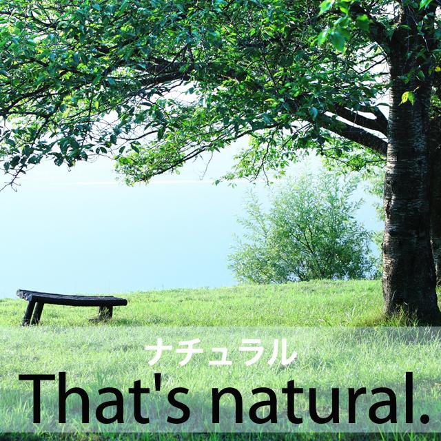 「ナチュラル」から学ぶ→ That's natural.