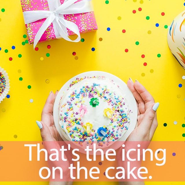 「アイス+ケーキ」を知ってれば…ゼッタイ話せる英会話→ That's the icing on the cake!