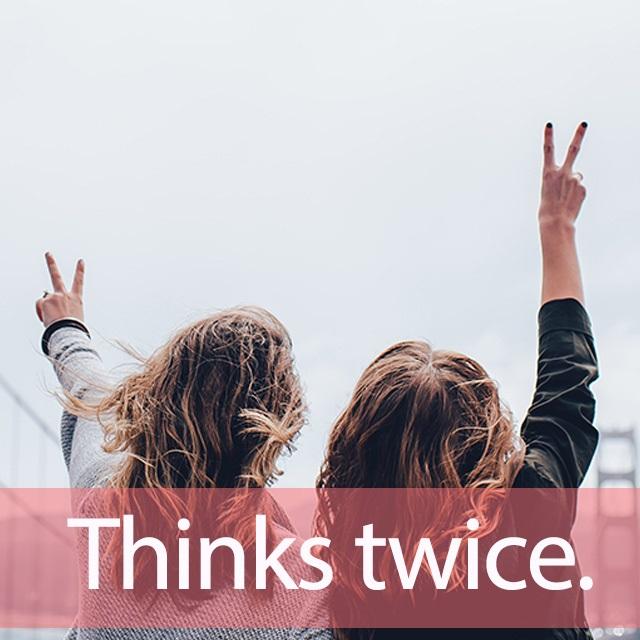 「TWICE(トゥワイス)」を知ってれば…ゼッタイ話せる英会話→ Thinks twice.