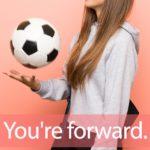 「フォワード」を知ってれば…ゼッタイ話せる英会話→ You're forward.
