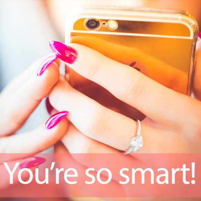 「スマートフォン」を知ってれば…ゼッタイ話せる英会話→ You're so smart!